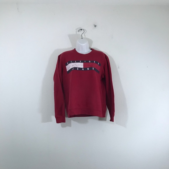 3400aa2f8 Tommy Hilfiger Sweaters | Vintage Tommy Jeans Flag Sweater S | Poshmark